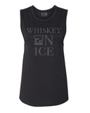 Whiskey On Ice Muscle Tank Black