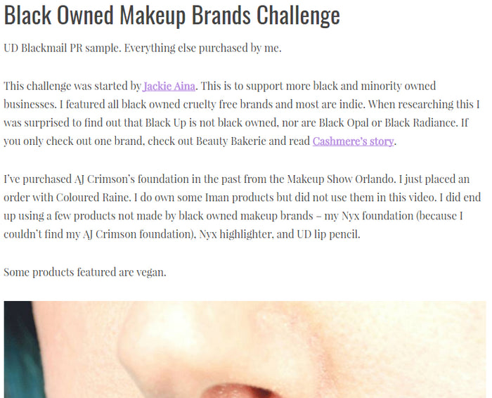 Phyrra: BLACK OWNED MAKEUP BRANDS CHALLENGE