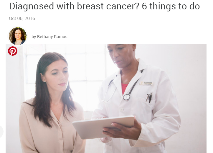 SheKnows: Diagnosed with breast cancer? 6 things to do