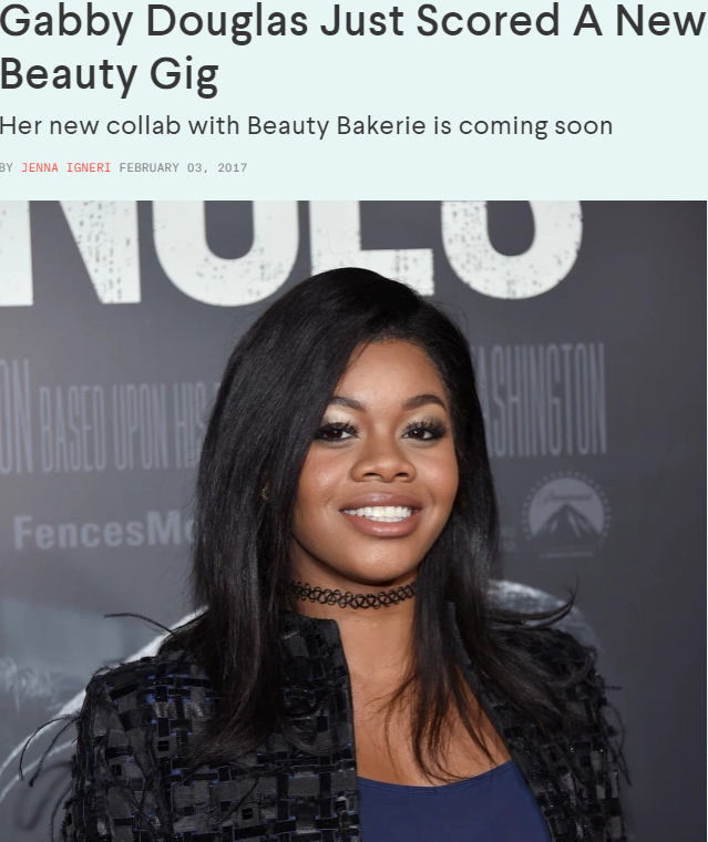 Nylon: Gabby Douglas Just Scored A New Beauty Gig