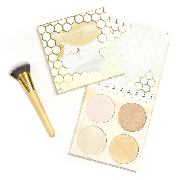 Milk & Honey Palette and Brush | Palette Set by Beauty Bakerie Cosmetics Brand
