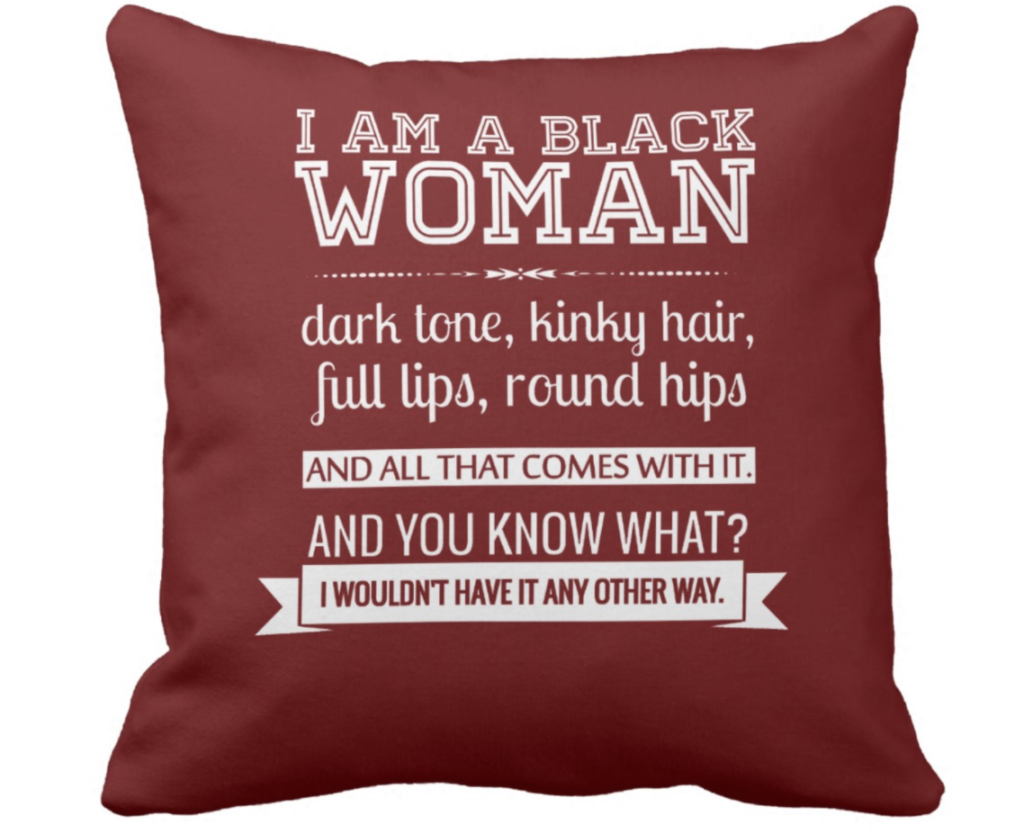 Editors' Picks: I am a Black Woman Throw Pillow