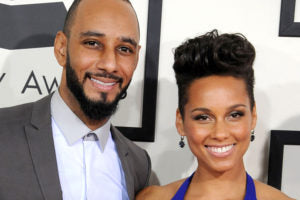 Alicia Keys and Swizz Beatz arrivals at the 56th GRAMMY Awards on January 26, 2014 in Los Angeles, California. (Photo by Steve Granitz/WireImage)