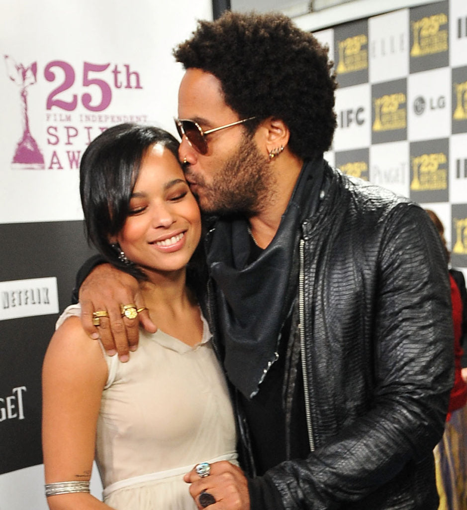 Lenny and Zoe Kravitz