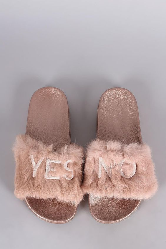 Editors' Pick: Yes, No Faux Fur Slides