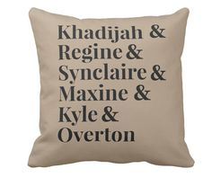 Living Single Homage Throw Pillow
