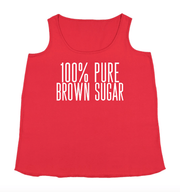 100 % Pure Brown Sugar Tank - Izzy & Liv - graphic tee
