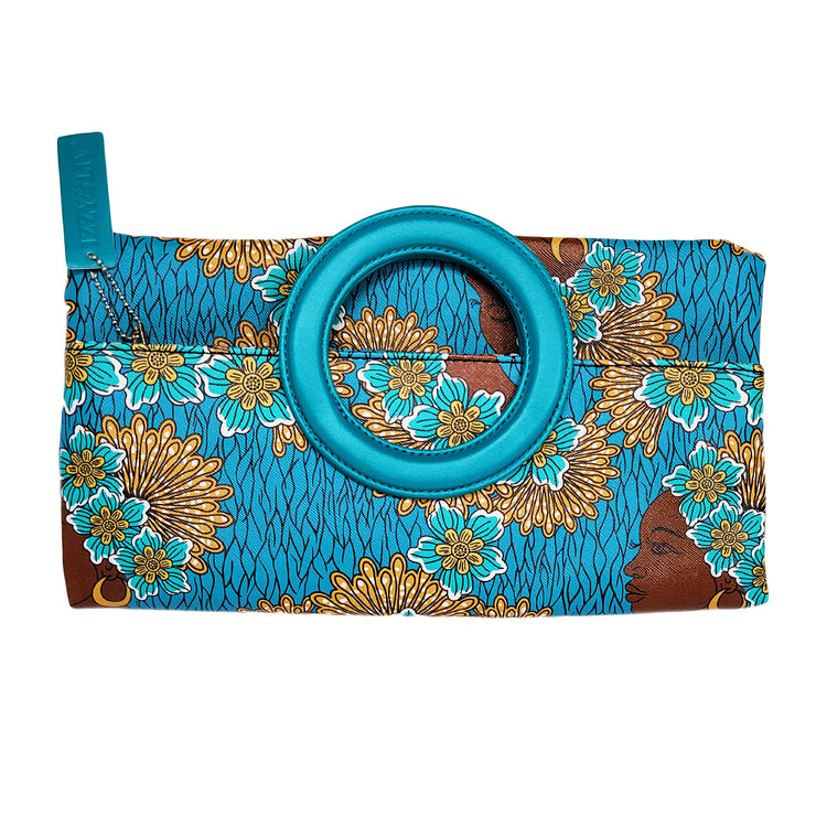 Azure Brown Sugar Ring Clutch + Tote Purse