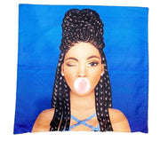 Braids Brown Sugar Girl Throw Pillow Cover - Izzy & Liv - pillow