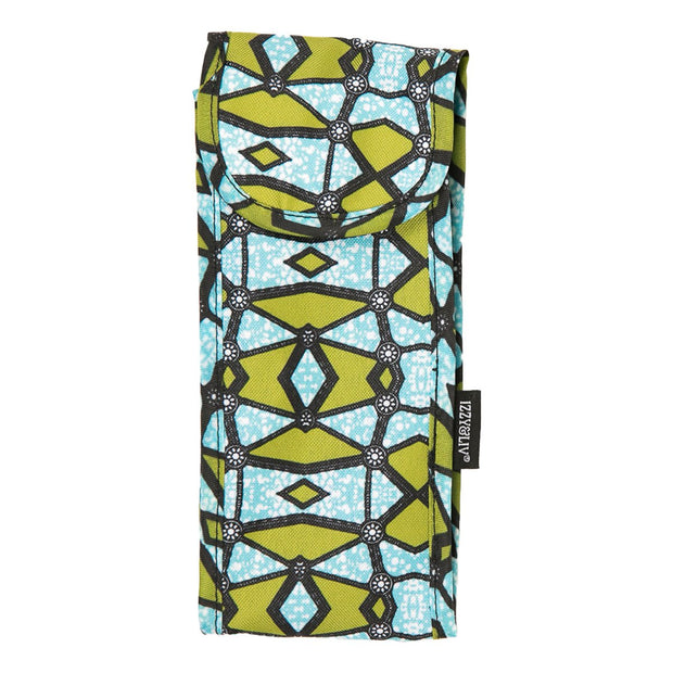 Green/Teal Ankara Print Fabric Sunglasses Case