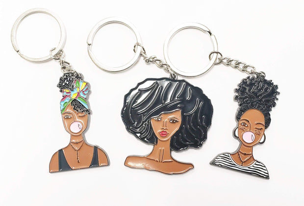 Brown Sugar Girl Key Chain