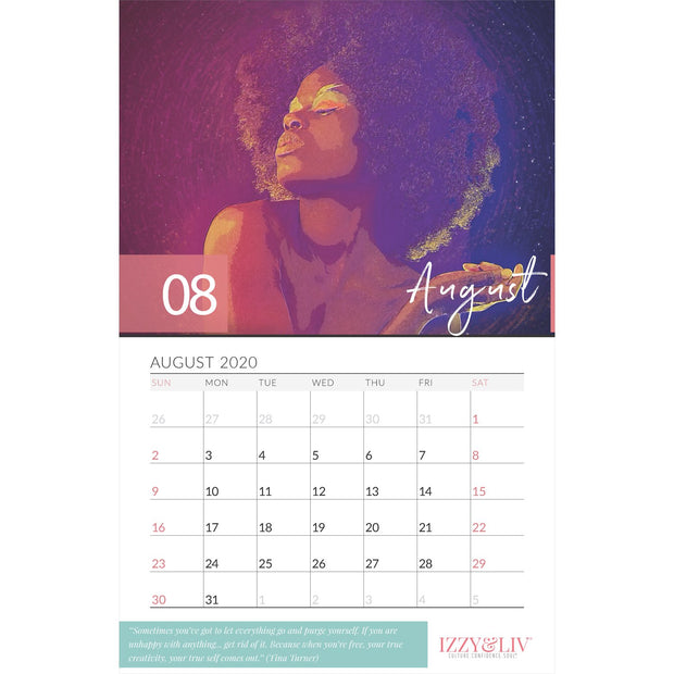 2020 Black Girl Magic Wall Calendar
