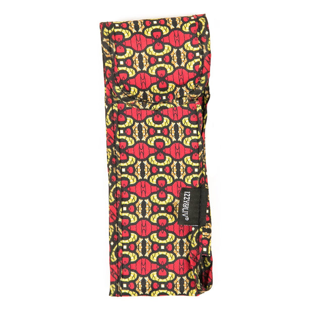 Pink & Yellow Ankara Print Fabric Sunglasses Case