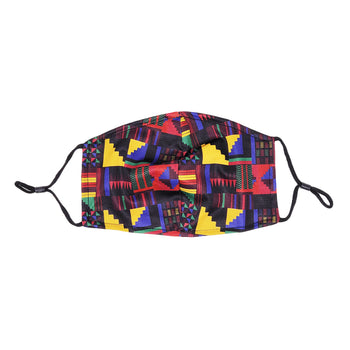 Man Code Abstract Print Men's Facial Covering w/Adjustable Straps