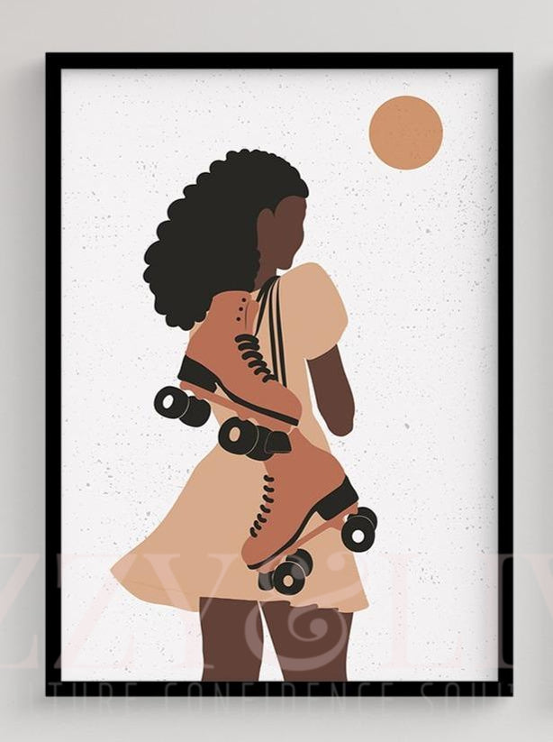 Care Free Melanin Printable Art