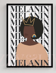 Crowned Melanin II Printable Art