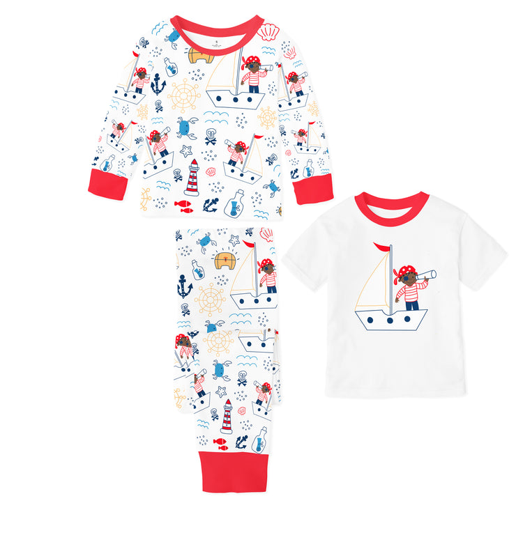 Captain of the Sea 3-Piece Pajama Set for Boys