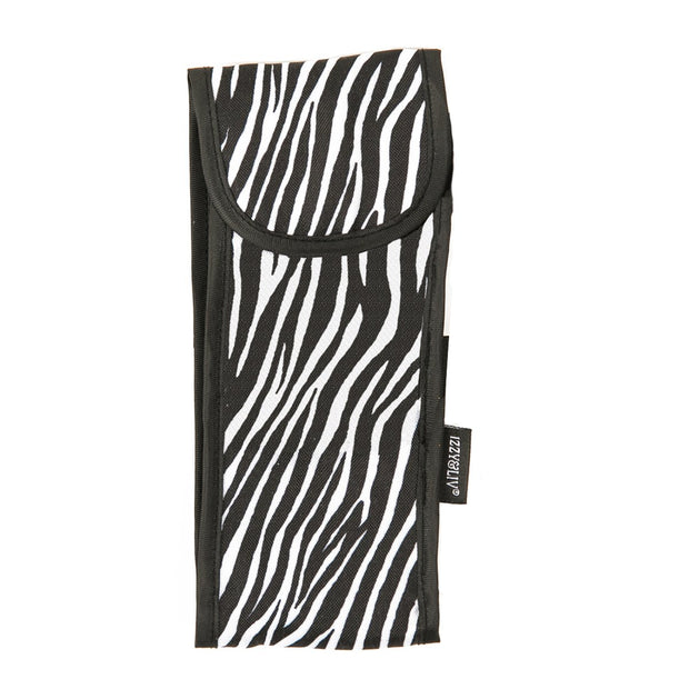 Zebra Print Fabric Sunglasses Case