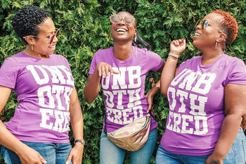 UNBOTHERED T-Shirt (Purple) - Izzy & Liv - graphic tee
