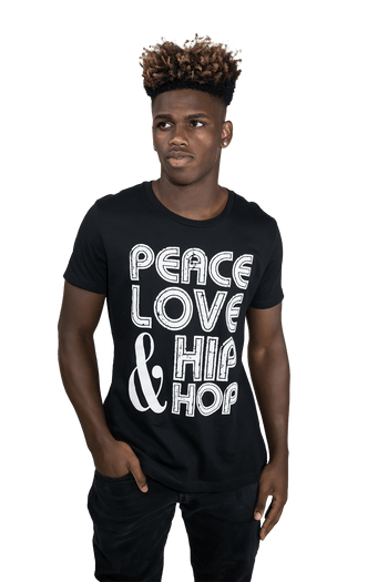 Peace, Love Hip Hop  T-Shirt - Izzy & Liv - graphic tee