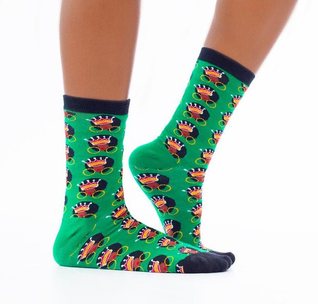 Afro Queen Black Girl Magic Socks (1 Pair)
