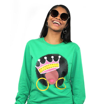 Afro Queen Lightweight Sweatshirt