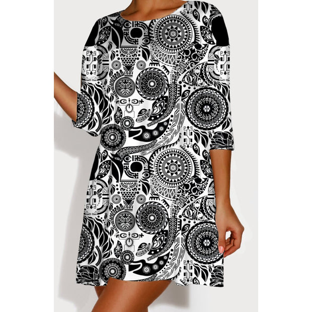 """Paisley Beauty"" Crazy, Sexy, Cozy 3/4 Sleeve Sleepshirt"