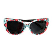 Red/Teal Ankara Print Sunglasses