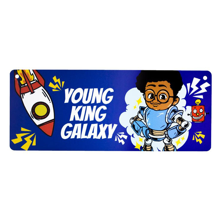 Young King Galaxy Door Sign