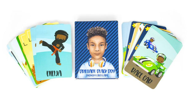 Brilliant Black Boy Memory Card Game