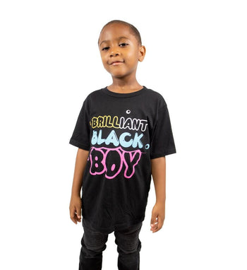 Brilliant Black Boy Youth Tee - Izzy & Liv - kid tee