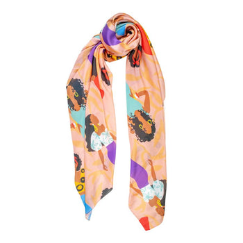 Brown Sugar Sunshine Illustrated Versatile Scarf