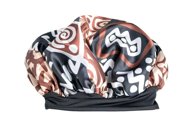 Tribal Print Satin Bonnet