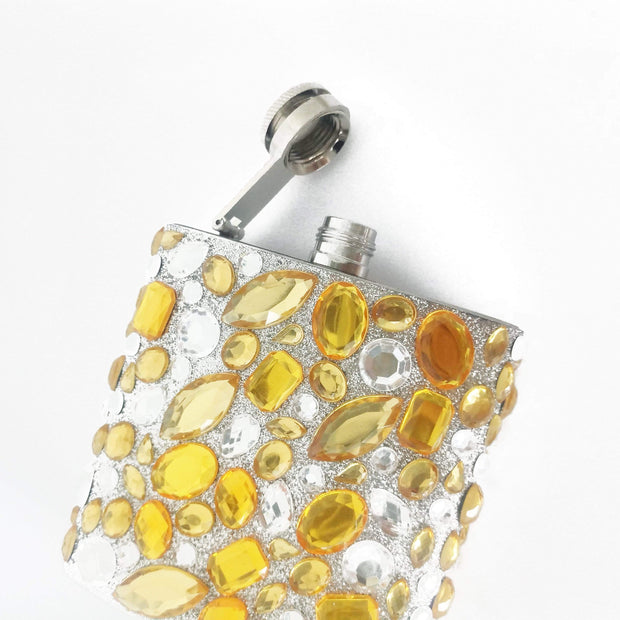 Rhinestone Bejeweled Flask