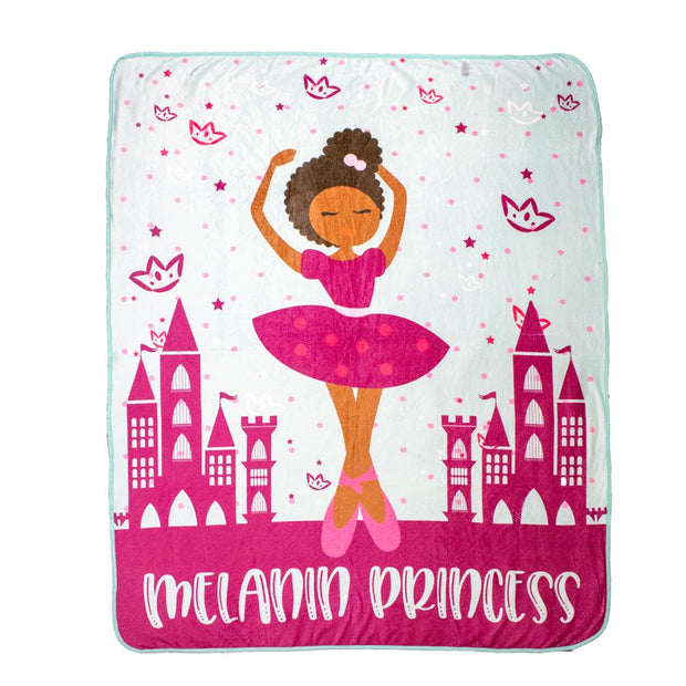 Izzy & Liv - Melanin Ballet Princess Fleece Blanket