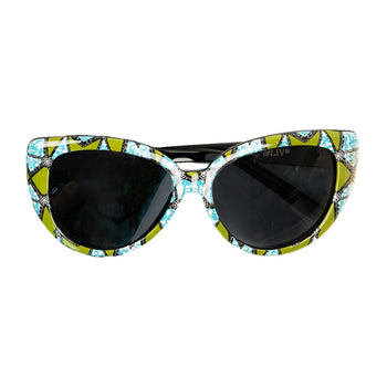 Green/Teal Ankara Print Sunglasses