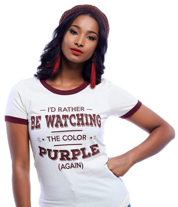 I'd Rather Be Watching The Color Purple T-Shirt - Izzy & Liv - graphic tee