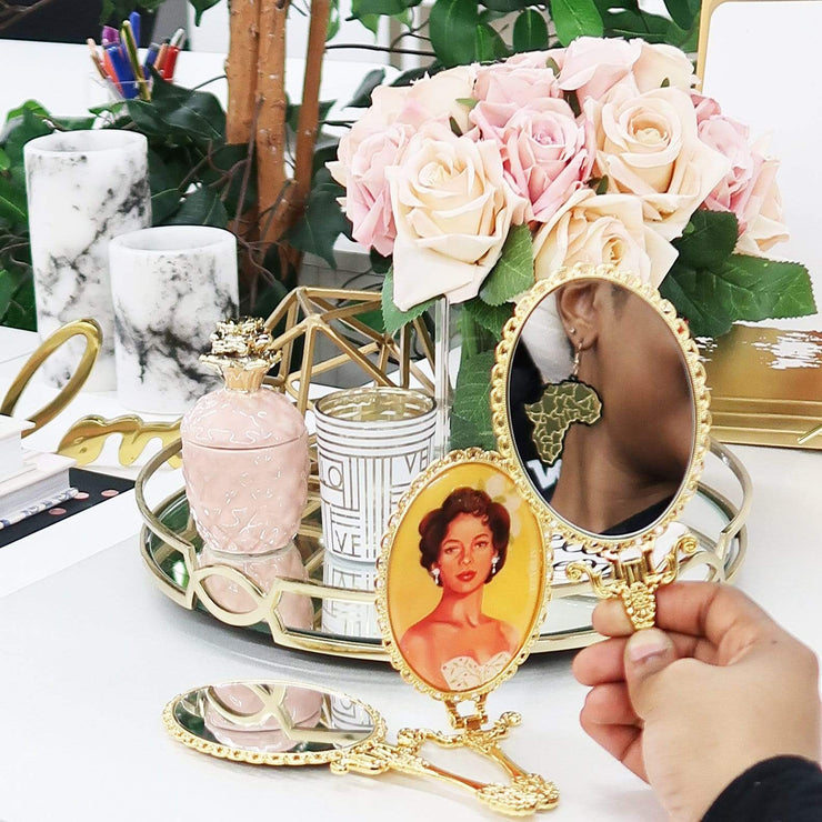 Iconically Glam Handheld Mirror - Izzy & Liv - mirror