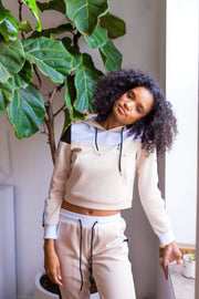 IL Color Block Sweat Suit (Crop Top)