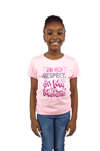 Put Respect on My Melanin Girls Tee - Izzy & Liv - kid tee