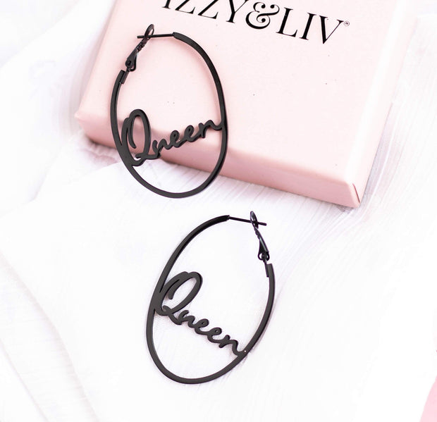 """Queen"" Earrings"