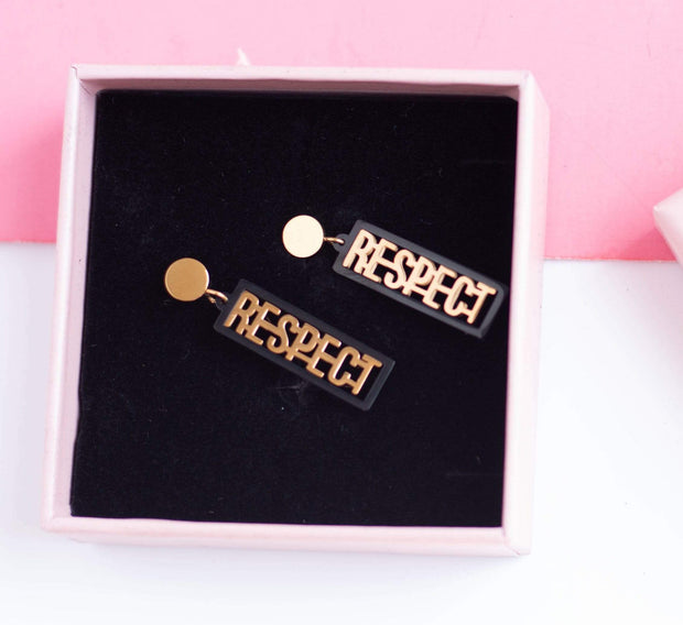 """Respect"" Earrings"