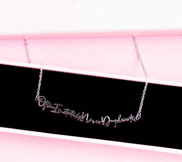 """Often Imitated Never Duplicated"" Necklace"
