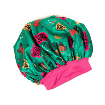 Cocoa Cutie Satin Hair Bonnet (For Girls)