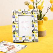 Geometric Goddess (Yellow) Picture Frame