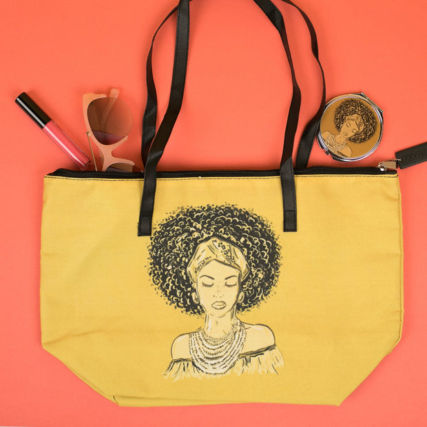 Golden Glow Canvas Tote