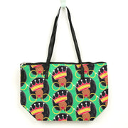 Afro Queen Canvas Tote