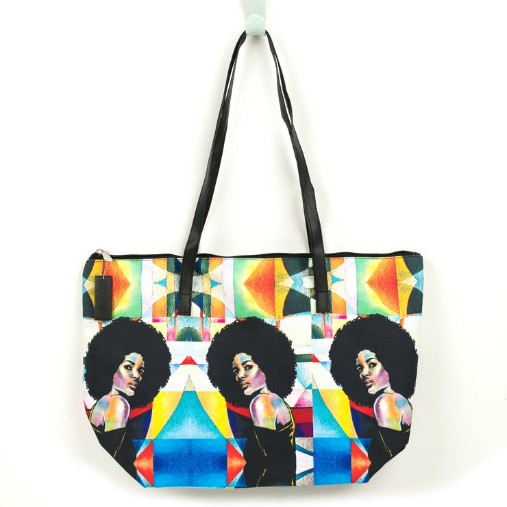 Afro Allure Canvas Tote