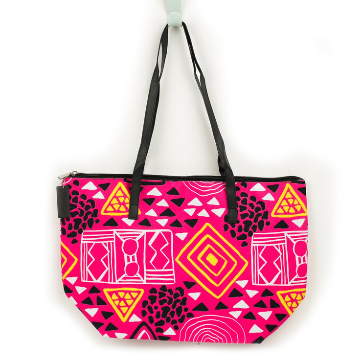 Pretty Patterns Canvas Tote