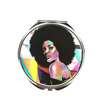 Afro Allure Compact Mirror